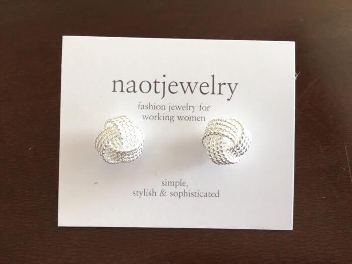 naotjewelryツイストシルバーピアス