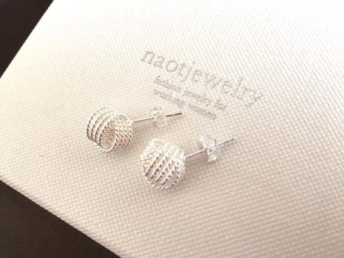 naotjewelryツイストシルバーピアス2